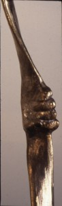 Detail of hand from Bronze Broom