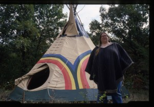 rae with tipi
